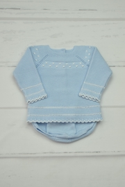Granlei 1980 Blue Knitted Outfit - Front cropped