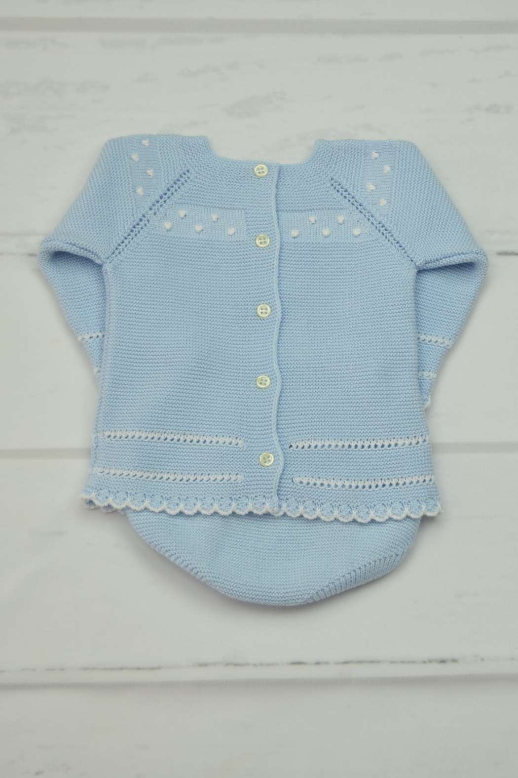 Granlei 1980 Blue Knitted Outfit - Front Full Image