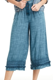 Patrons of Peace Blue Lagoon Pants - Front cropped