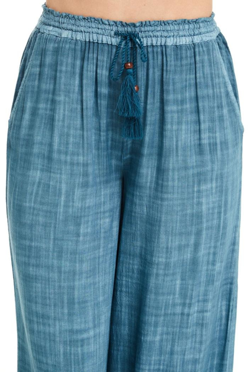 Patrons of Peace Blue Lagoon Pants - Side Cropped Image
