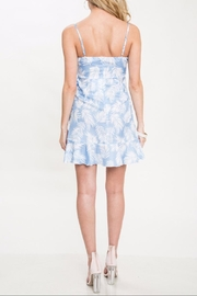 Latiste Blue Leaf Dress - Front full body