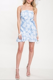 Latiste Blue Leaf Dress - Front cropped