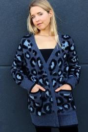 RD Style BLUE LEOPARD CARDIGAN - Product Mini Image