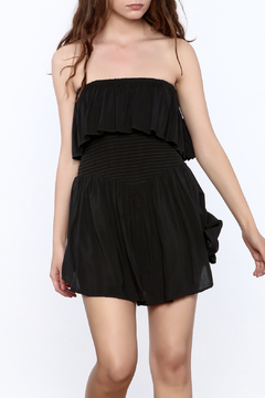 Shoptiques Product: Black Festive Strapless Romper