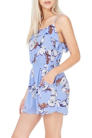 Everly Blue Lined Romper - Product Mini Image