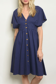 Kate C Blue Linen Dress - Product Mini Image