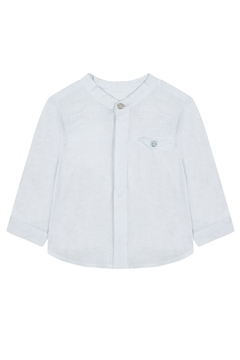 Tartine et Chocolat Blue Linen Shirt - Alternate List Image