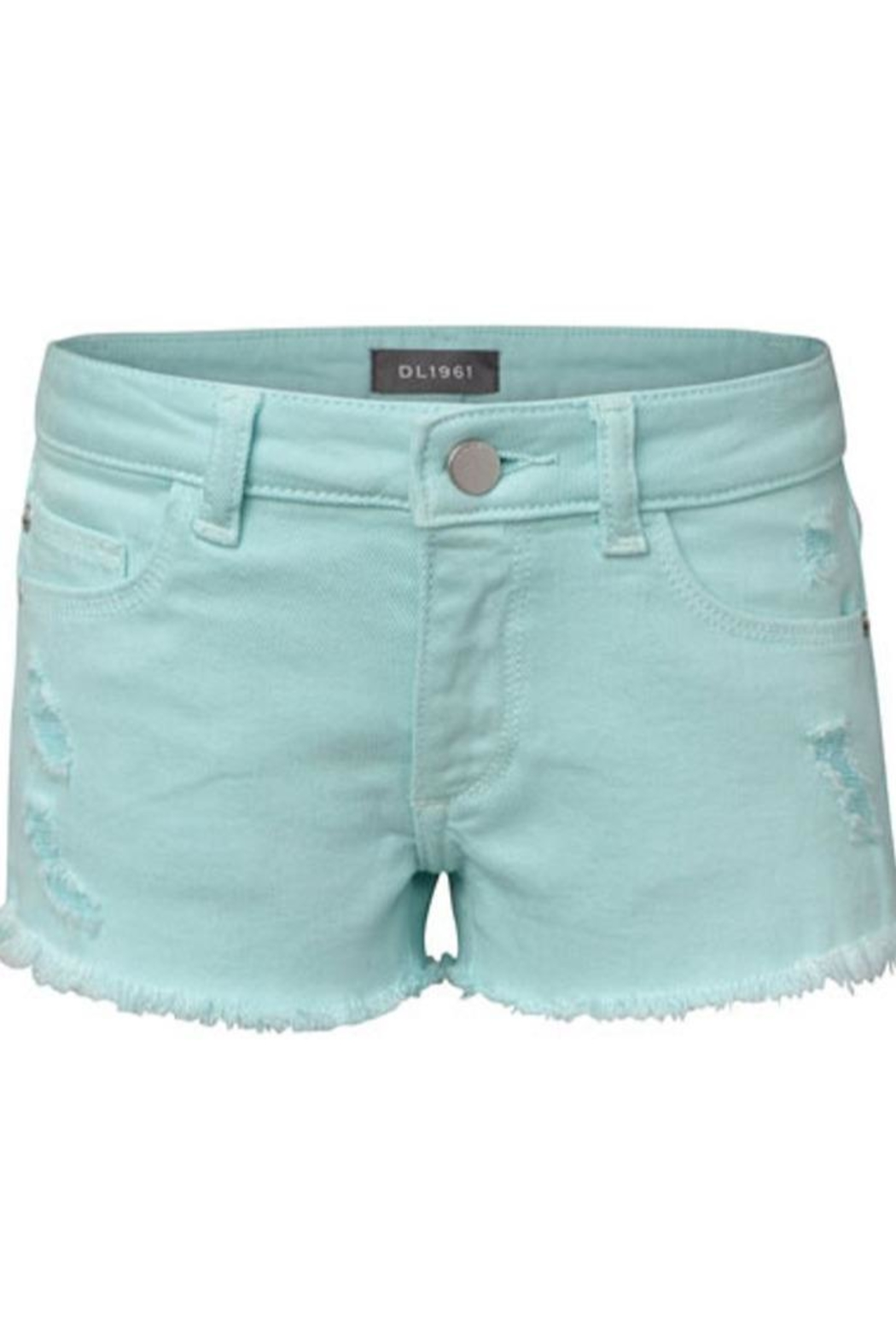 DL 1961 Blue Lucy Shorts - Front Cropped Image