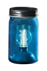Roman Blue Masonjar Light - Product Mini Image