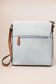 Simply Noelle Blue Messenger Bag - Back cropped