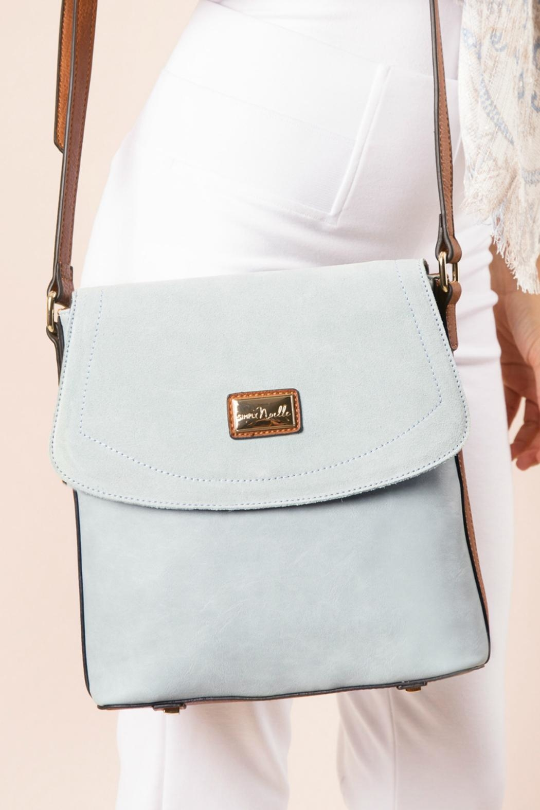 Simply Noelle Blue Messenger Bag - Main Image