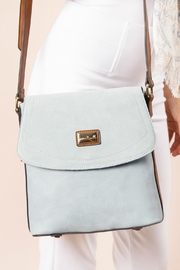 Simply Noelle Blue Messenger Bag - Front cropped