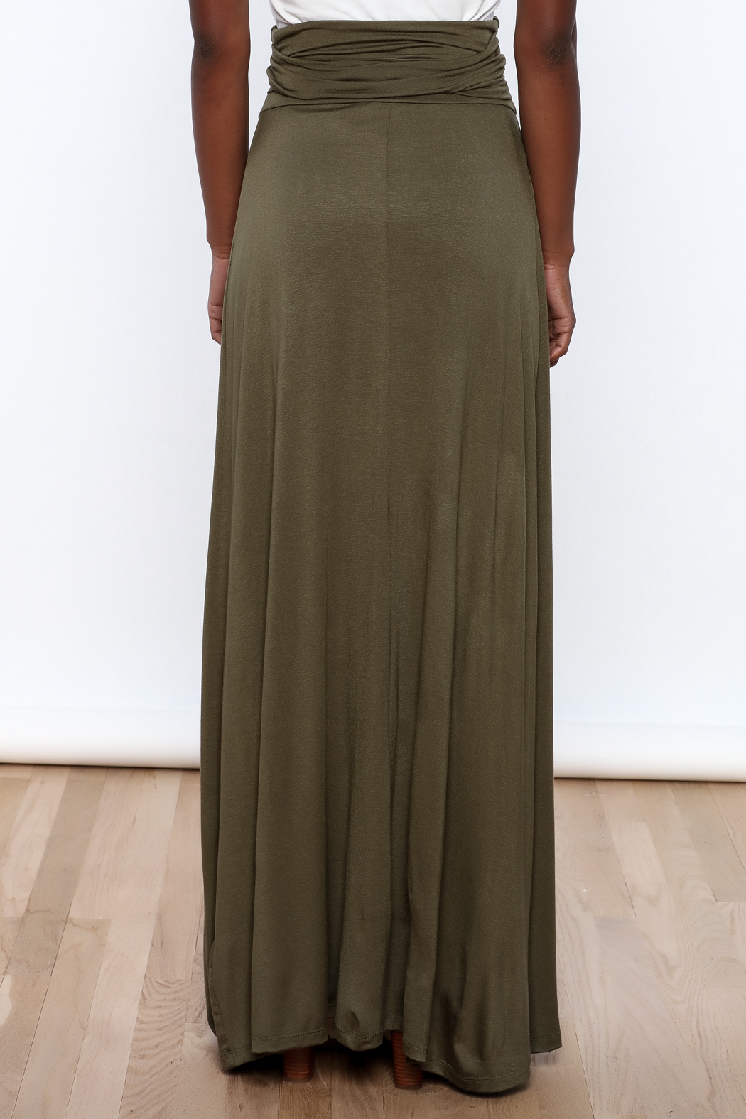 blue mint olive maxi skirt from california by mandyz