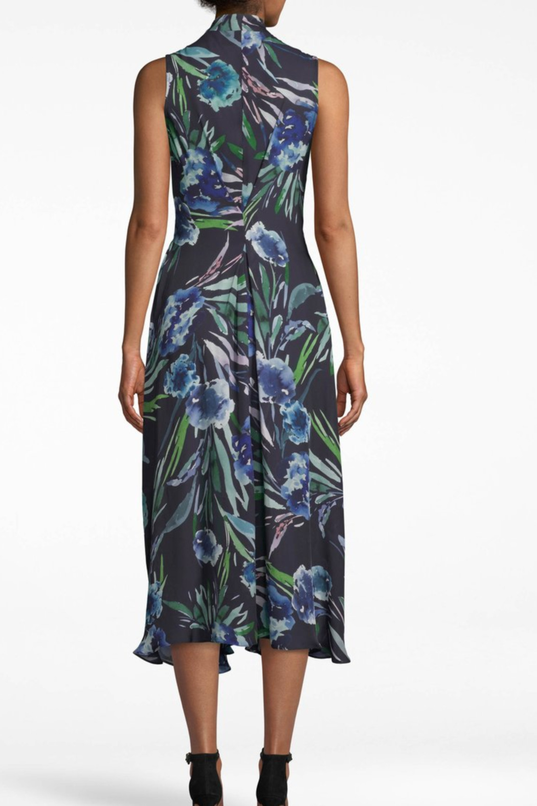 Nicole Miller Blue Mirage Dress - Side Cropped Image