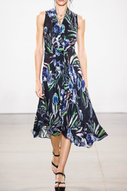 Nicole Miller Blue Mirage Dress - Front cropped