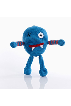 Pebble Blue Monster Rattle - Product List Image