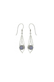 Vera Wolf Blue Moonstone Earring - Front cropped