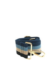Ahdorned Blue Multi Adjustable Web Strap - Front cropped