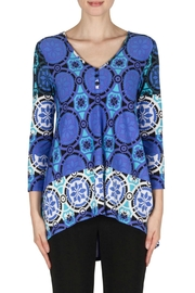 Joseph Ribkoff Blue Multi Top - Product Mini Image