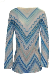 David Cline Blue Multicolored Top - Side cropped