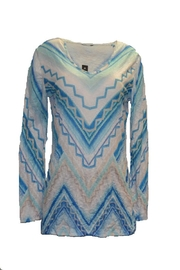David Cline Blue Multicolored Top - Front cropped