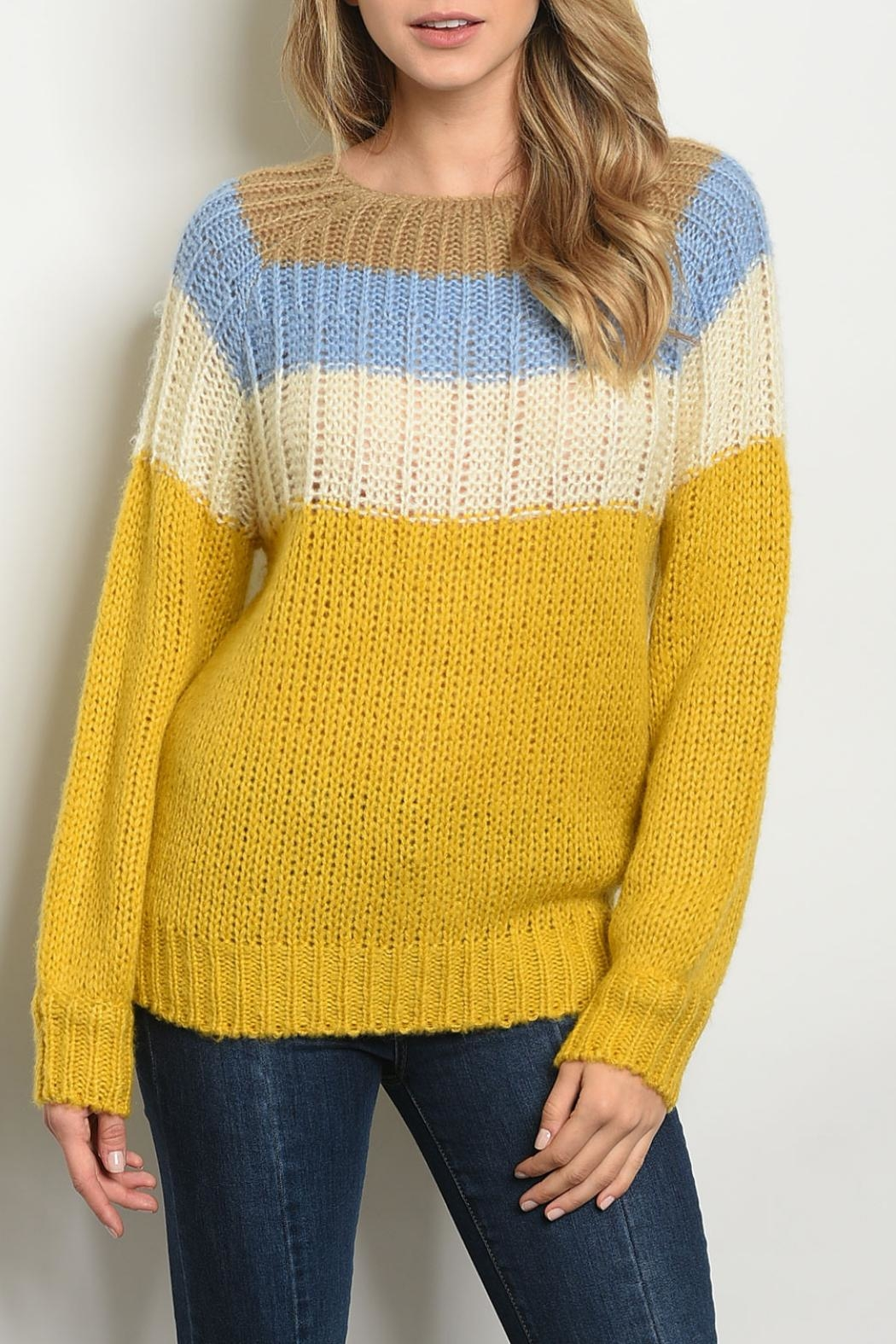 O & O Blue Mustard Sweater - Main Image