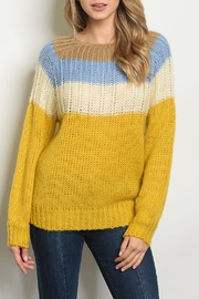 O & O Blue Mustard Sweater - Front cropped