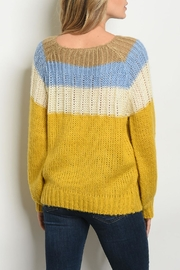 O & O Blue Mustard Sweater - Front full body