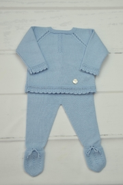 Granlei 1980 Blue Newborn Outfit - Front cropped