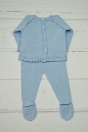 Granlei 1980 Blue Newborn Outfit - Front full body