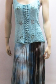 KIMBALS BLUE OMBRE TIE DYE SKIRT - Product Mini Image