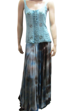 Apparel Love BLUE OMBRE TIE DYE SKIRT - Product List Image