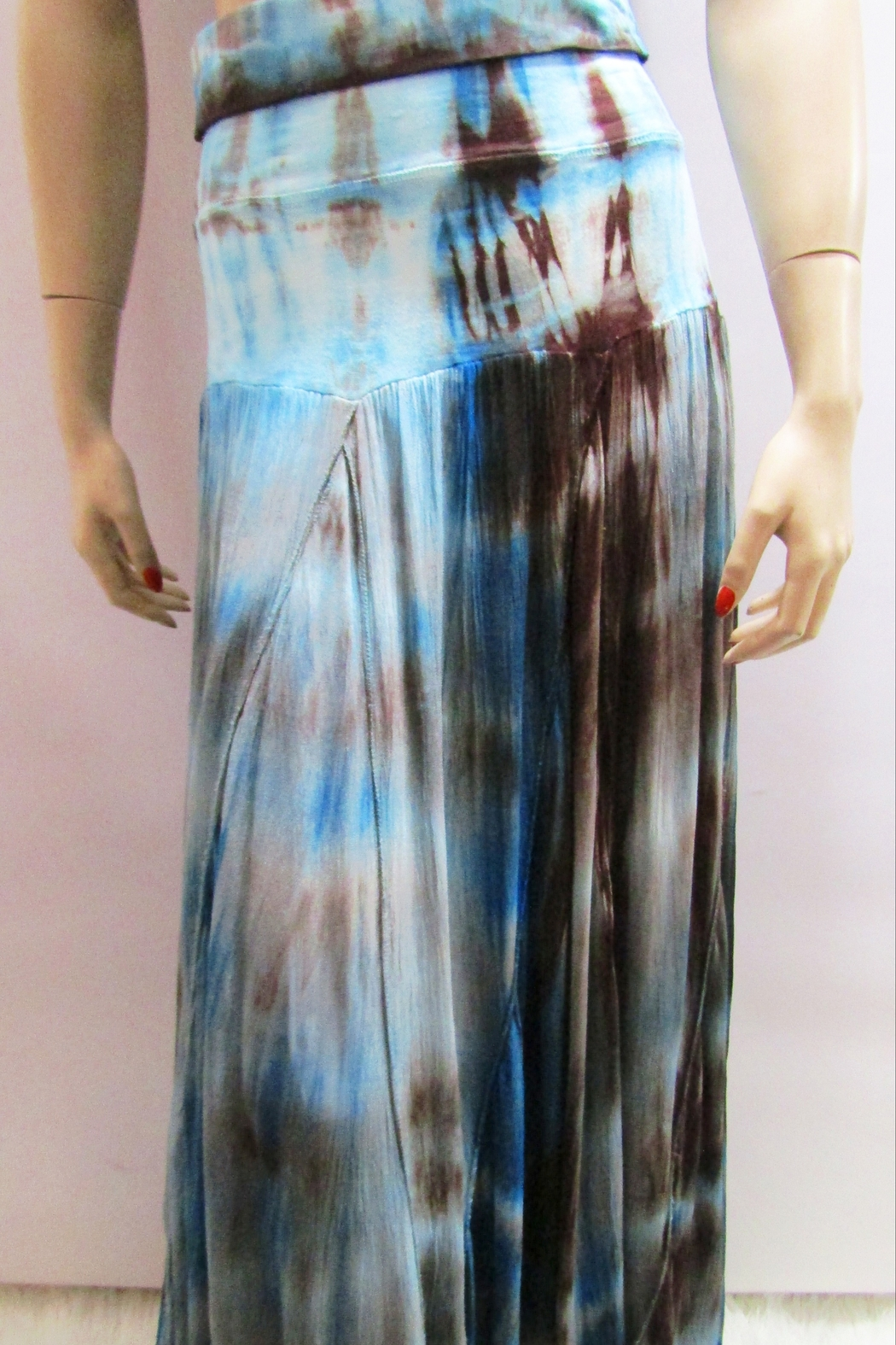 Apparel Love BLUE OMBRE TIE DYE SKIRT - Front Full Image