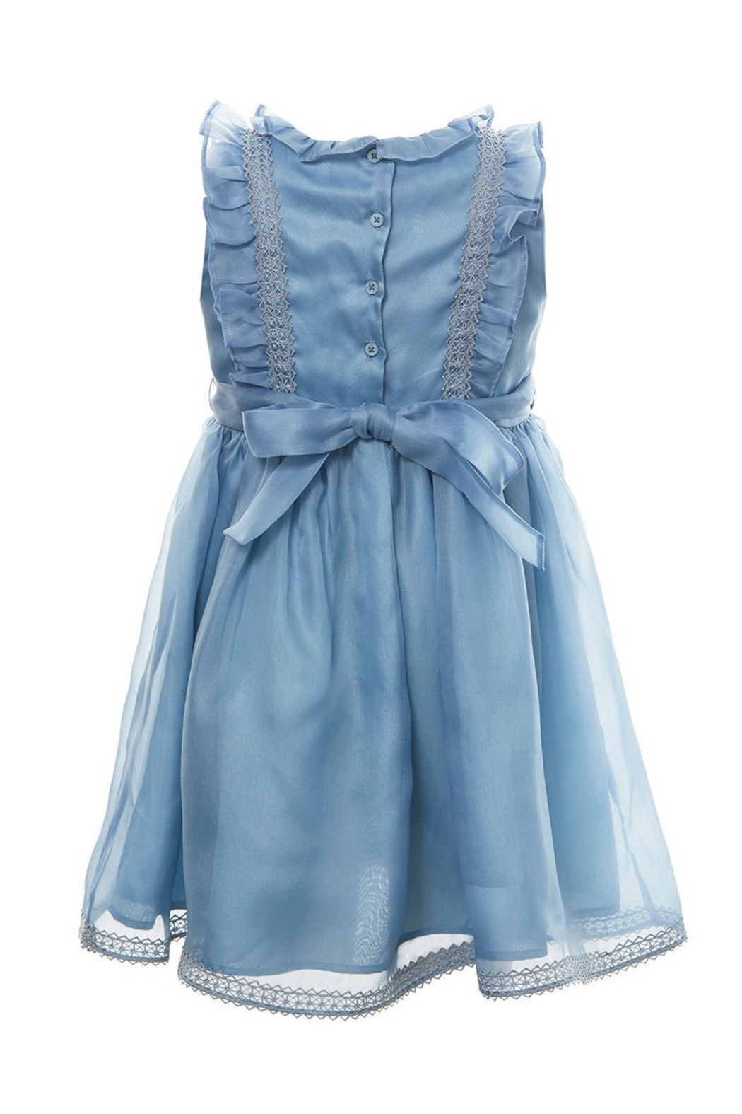 Marie Chantal Blue Organza Silk Dress - Front Full Image