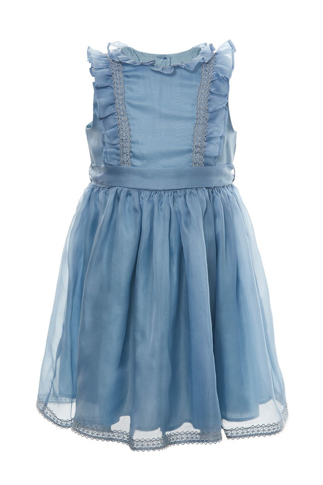 Marie Chantal Blue Organza Silk Dress - Main Image