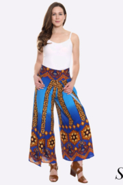 1960s Pants – Top 10 Styles for Women Blue Palazzo Pants $35.00 AT vintagedancer.com