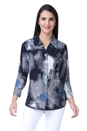 Parsley & Sage Blue Patchwork Shirt - Product Mini Image