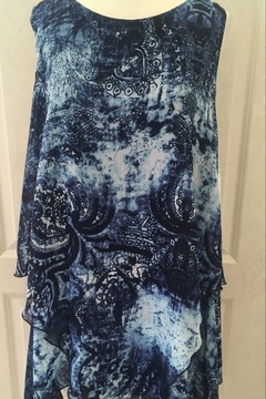 Shoptiques Product: Blue patterned tunic