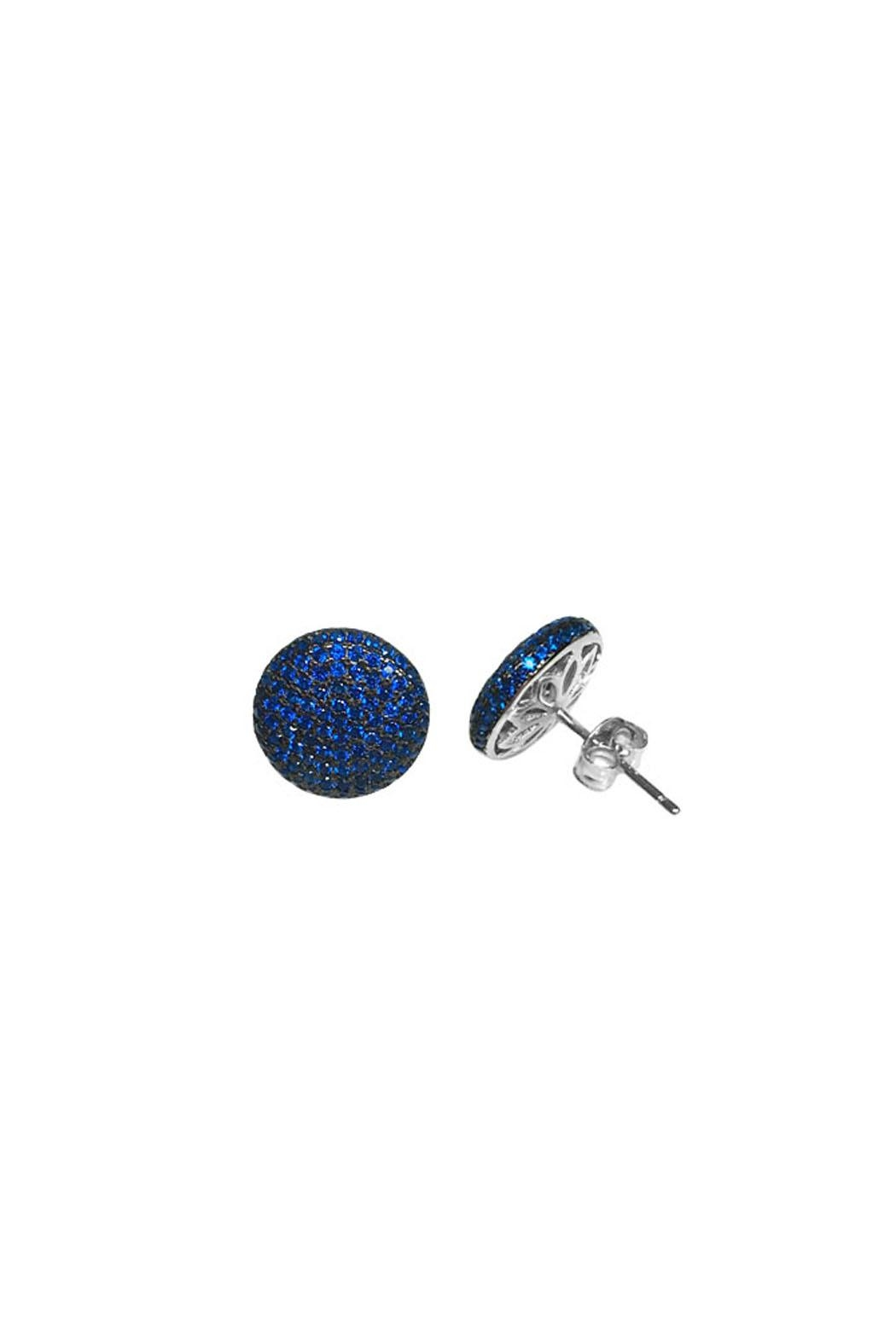 Wild Lilies Jewelry  Blue Pave Studs - Front Full Image