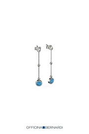 Officina Bernardi Blue Pearl Drop-Earrings - Product Mini Image