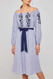 Hayden Los Angeles Blue Peasant Dress - Product Mini Image