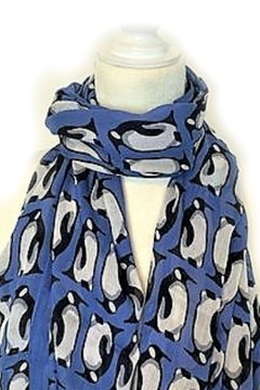 Vera Bradley Blue Penguins Scarf - Alternate List Image