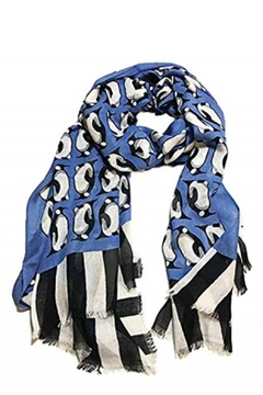 Vera Bradley Blue Penguins Scarf - Product List Image