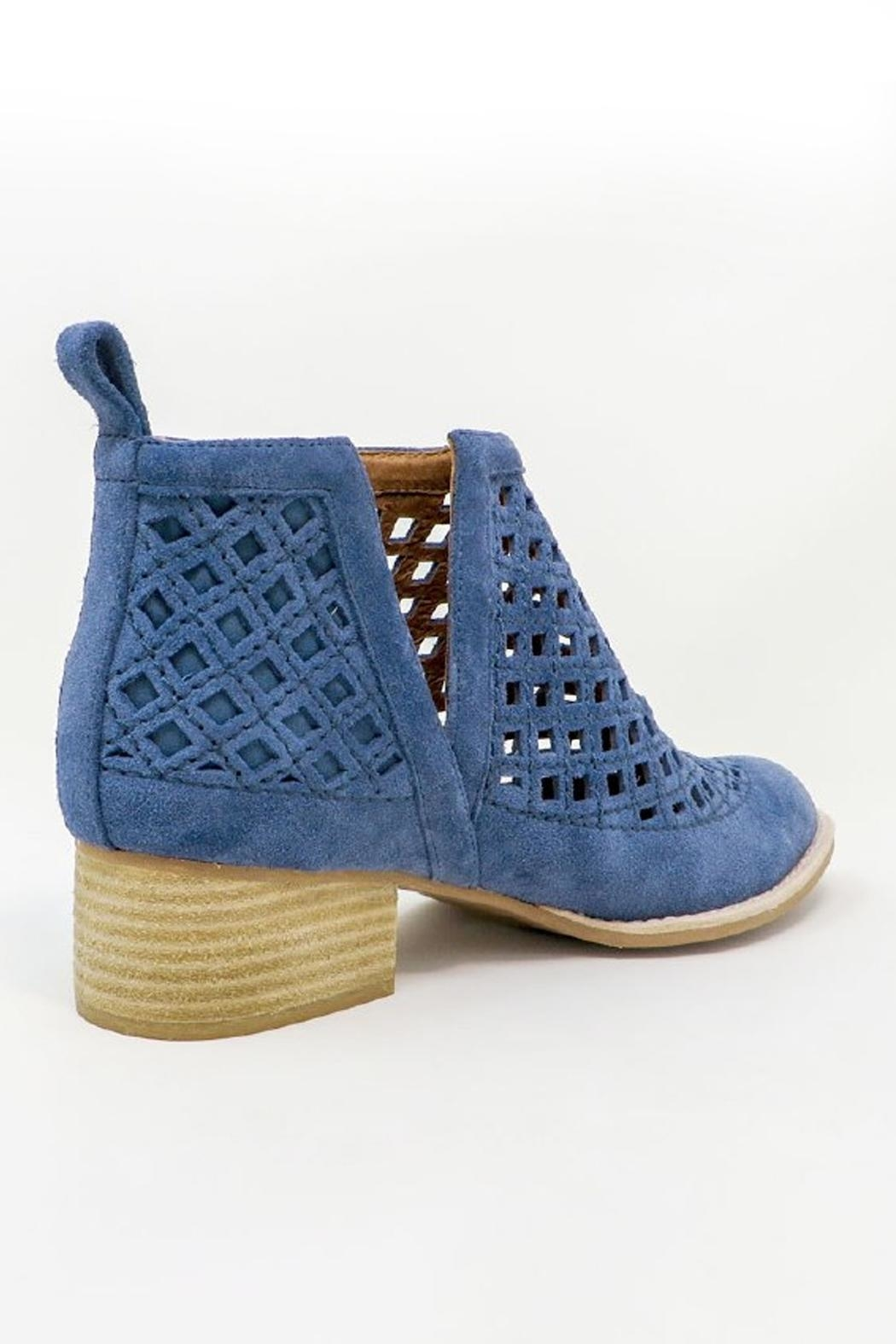 Jeffrey Campbell Blue Perforated Booties - Front Full Image