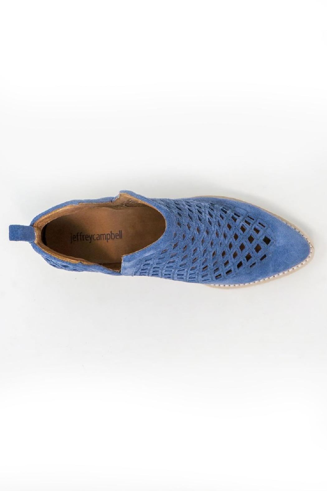 Jeffrey Campbell Blue Perforated Booties - Side Cropped Image
