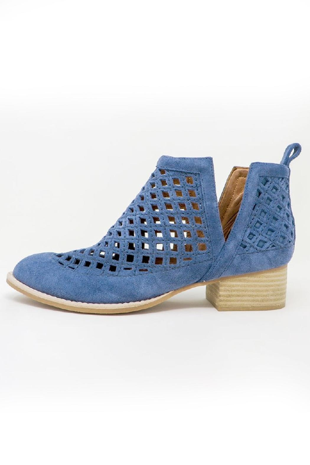 Jeffrey Campbell Blue Perforated Booties - Main Image