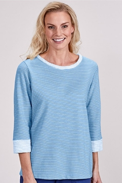Fresh Produce Blue Pinstripe Sweatshirt - Alternate List Image