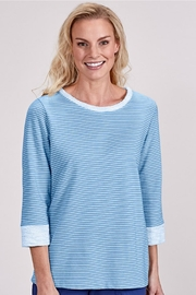 Fresh Produce Blue Pinstripe Sweatshirt - Product Mini Image