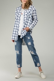 POL Blue Plaid Flannel - Product Mini Image