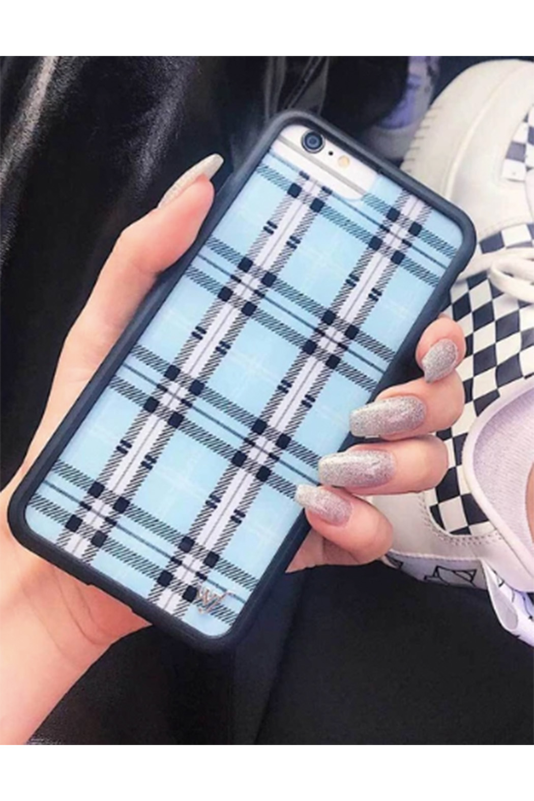 Wildflower Cases Blue Plaid iPhone 11 Pro Case - Front Full Image